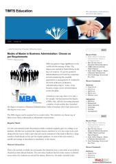 Modes of Master in Business Administration Choose as per Requirements.pdf