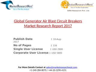 Global Generator Air Blast Circuit Breakers Market Research Report 2017.pptx