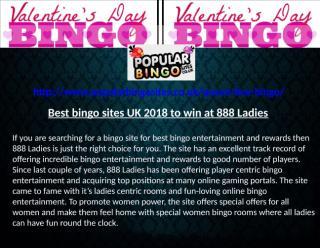 Best bingo sites UK 2018 to win at 888 Ladies.pptx