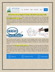 SEO Services in Los Angeles Proving Credentials Generating Traffic.pdf