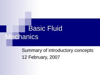 FluidMechanics - پاورپوینت فصل اول - مکانیک سیالات - www.msabbasian.mihanblog.com.ppt