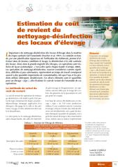 Estimation du coût de revient du nettoyage-désinfection des locaux d'élevage.pdf