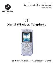 Motorola L6 service manual.pdf